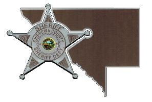 Chippewa County Sheriff's Office Badge and Minnesota State Outline